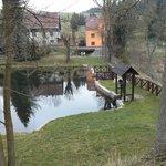 Teich vor dem Hotel