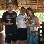 Yari (Nany),Sylvie and Glenn at the beach grill ;-)
