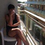 на балконе в номере