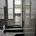 Our bathroom and balcony.