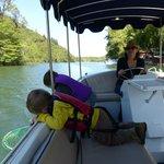 Boating around the lake