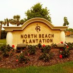 Entrance sign to North Beach Plantation
