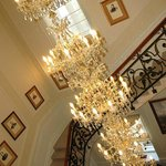 Chandelier on Grand staircase