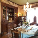 Dining room where breakfast and great conversation is enjoyed!
