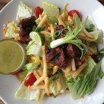 Jack's Roadhouse Salad with honey-lime vinegerette dressing
