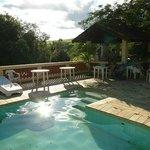 Area da piscina e churrasco