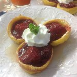 Mini Dutch Babies with Strawberry Compote