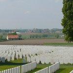 Tyne Cot Cemetery overlooking Flanders Field