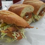 soft shelled crab po'boy