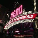Eldorado Hotel Casino Behind Reno Sign