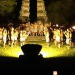 The traditional Kecak Fire Dance