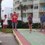 Enjoying Shuffle Board
