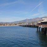 Píer e vista de Santa Barbara