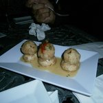 Mushroom stuff with mofongo - tapas