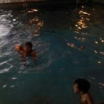 The kids had fun in the pool. It is just right for a family night of fun when passing through.