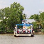 Ride on a river ferryboat