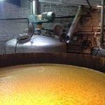 a vat full of boiling bourbon