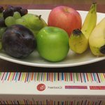 Fruit basket and choclates