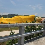 Reclining Buddha on other side of Span (bridge)