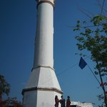 The tall Bolinao Lighthouse