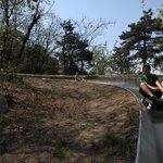 The toboggan ride at the Great Wall