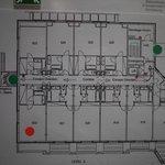 Plan de la section chambres prestige