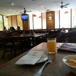 breakfast in looby cafe