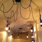 Lovely light fixture in the main reception area