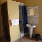 chambre : le coin douche