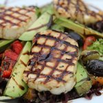 Grilled mediterranean vegetable and haloumi Salad