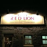 The Red Lion at night