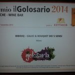 "Bibouq: Premio il Golosario Presidio Slowfood 2014 ""Best Wine Bar"""