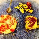 Tris di dolci: crema polenta, tiramisù e zuppa inglese