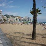 Levante Beach on a lovely sunny day