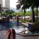 Pool deck at Mandarin Oriental, KL