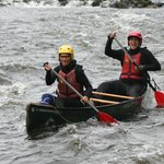 Canoeing the rapids at Symonds Yat