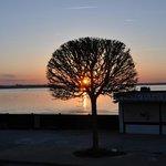 Sonnenuntergang vom Heimathafen aus gesehen