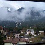 Vista dal balcone dell'hotel