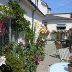 Garden terrace - great for summer breakfasts