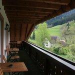Balcone della camera e vista