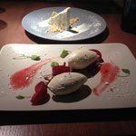 Pistachio Parfait (top) Lavender Cheesecake (bottom)