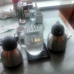 Coffee Urns and Iced Water Pitcher