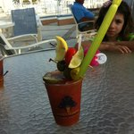 the bloody Mary at the tiki bar