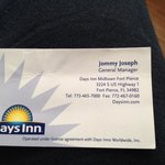 Owners business card I got from front desk...