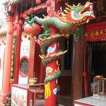 Dragons guard a buddhist temple