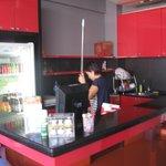Lounge area kitchen.