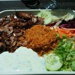 Kebab à l'assiette menu du midi