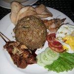 Nasi Kampong for dinner in hotel restaurant