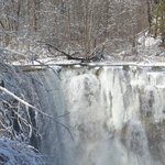 Ludlowville Falls in winter
