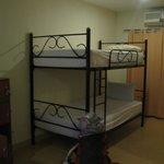 Dorm bunks.